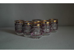 Pohárek 30ml listr set 6ks fialová