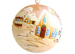 Koule vánoční 20cm růžová decor Christmas závěsná