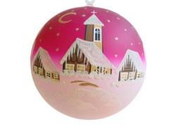 Christmas ball 20 cm www.sklenenevyrobky.cz