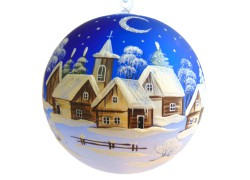 Christmas ball 18cm www.sklenenevyrobky.cz