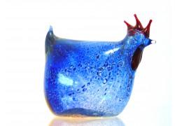 Vel'konočná sliepka z fúkaného skla