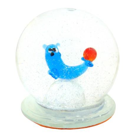 Sněhová koule 60mm lachtan www.sklenenevyrobky.cz