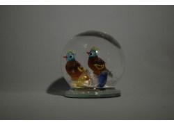 Sněžící koule s ptáčky 80 mm
