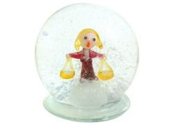 Snow globe and figurine sign Libra www.sklenenevyrobky.cz