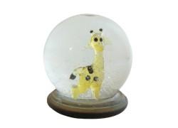 Sněžící guľa 8cm - žirafa