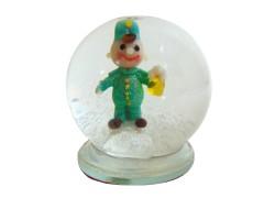 Snow globe and figurine good soldier Svejk www.sklenenevyrobky.cz