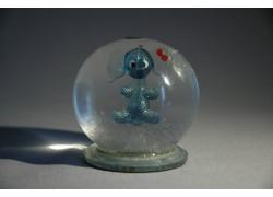 Sněžící koule Slůně s mašlí 60 mm
