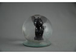 Sněžící koule Slůně fialové 60 mm