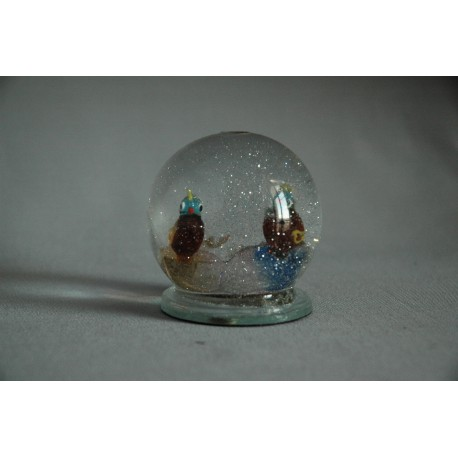 Sněžící koule Papoušci 60 mm