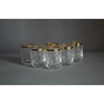 Pohárek 30ml listr set 6ks crystal