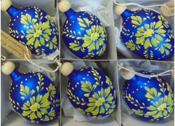 Velikonoční vajíčko 8004 6ks www.sklenenevyrobky.cz
