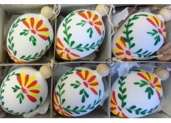 Velikonoční vajíčko 1007 6ks www.sklenenevyrobky.cz