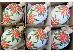 Velikonoční vajíčko 1002 6ks www.sklenenevyrobky.cz