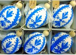 Velikonoční vajíčko 1006 6ks www.sklenenevyrobky.cz