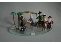 Christmas nativity scene made of glass www.sklenenevyrobky.cz