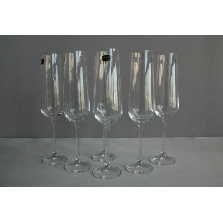 Sklenice na šampaňské víno Sandra 200 ml set 6 ks