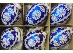 Easter glass eggs 6pcs. www.sklenenevyrobky.cz