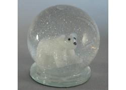 Sněžící gule a ľadový medveď