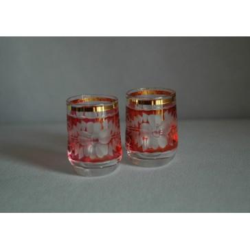Pohárek 30ml listr duo červená