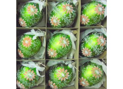 Easter glass eggs 9pcs.
