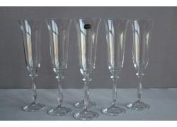 Sklenice na šampaňské víno Angela 190 ml set 6 ks