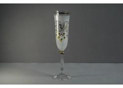Jubilee glass Angela - flute 30 years white www.sklenenevyrobky.cz