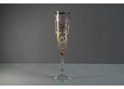 Výroční sklenička Angela - flétna 30 let (190ml) růžová www.sklenenevyrobky.cz