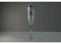 Jubilee glass Angela - flute 30 years blue www.sklenenevyrobky.cz
