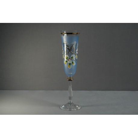 Výroční sklenička Angela - flétna 30 (190ml modrá)