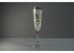 Jubilee glass Angela - flute 33 years white www.sklenenevyrobky.cz
