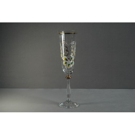 Výroční sklenička Angela - flétna 33 (190ml crystal)