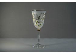 Výroční sklenička na víno Angela 30 let (250 ml bílá) www.sklenenevyrobky.cz