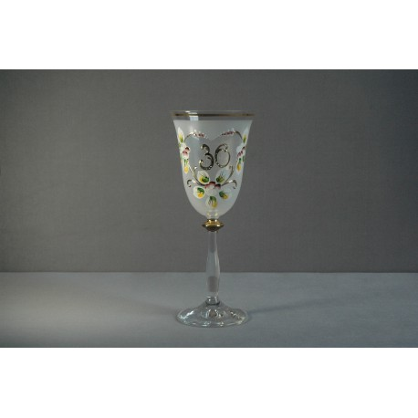 Výroční sklenička Angela 30 (190ml bílá)