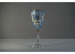 Jubilee wine glas Angela 30 years blue www.sklenenevyrobky.cz