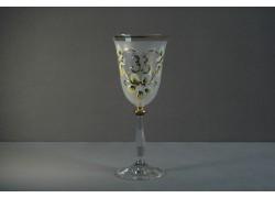 Jubilee wine glas Angela 33 years white www.sklenenevyrobky.cz
