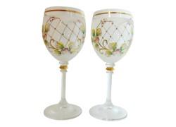 Glass Carmen 240ml 2pcs enamelled wine glasses www.sklenenevyrobky.cz