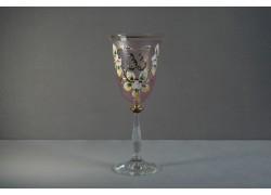 Jubilee wine glas Angela 33 years pink www.sklenenevyrobky.cz