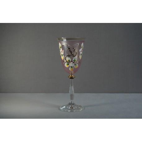 Výroční sklenička Angela 33 (250ml růžová)