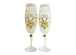 Glass Carmen 190ml 2pcs enamelled Champagne glasses www.sklenenevyrobky.cz