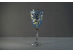 Jubilee wine glas Angela 33 years blue www.sklenenevyrobky.cz