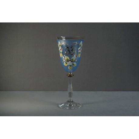 Výroční sklenička Angela 33 (250ml modrá)