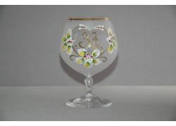 Jubilee Glass Carmen 33 years white www.sklenenevyrobky.cz