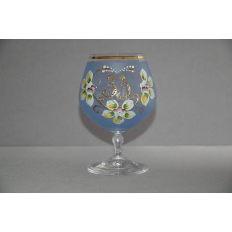 Výroční sklenička Carmen 33 (400ml modrá)