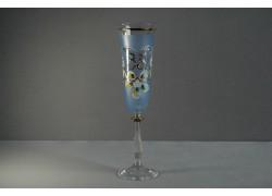 Výroční sklenička Angela - flétna 35 let (190ml modrá) www.sklenenevyrobky.cz