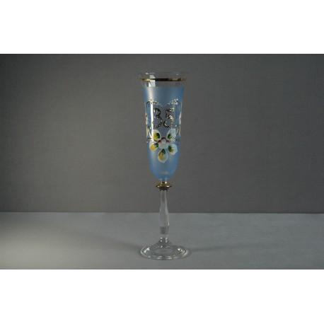 Výročný pohár Angela flauta 35 rokov modrá www.sklenenevyrobky.cz