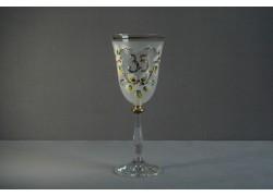 Jubilee wine glas Angela 35 years white www.sklenenevyrobky.cz