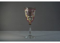 Jubilee wine glas Angela 35 years pink www.sklenenevyrobky.cz