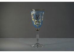 Jubilee wine glas Angela 35 years blue www.sklenenevyrobky.cz