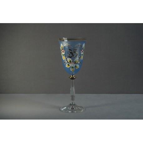 Výroční sklenička Angela 35 (250ml modrá)