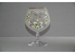 Jubilee Glass Carmen 35 years white www.sklenenevyrobky.cz
